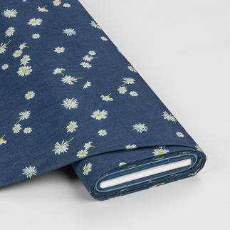 Meterware Denim Prints - Ragged Daisies Angesagter Denim-Style aus den USA