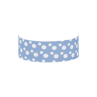 Schrägbänder - Dots, Blau Farblich ideal aufeinander abgestimmte Bänder.