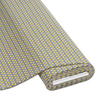 Meterware Baumwoll-Jersey - Hexagon, Gelb Baumwoll-Jersey – Der ideale Stoff für bequeme Shirts, Kleider und Kindermode.