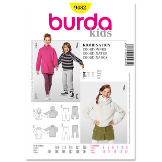 Burda Schnitt 9482 - Kombination Kids