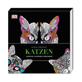Ausmalbuch Black Premium – Katzen