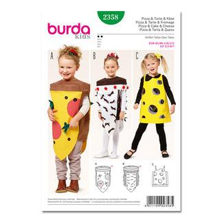 Burda Schnitt 2358 - Karnevalkostüm - Pizza, Torte & Käse.