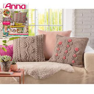Kissen mit Eichenlaub oder Blumen aus Anna 9/20