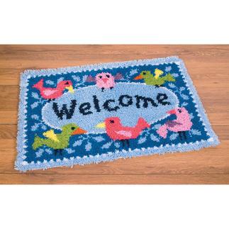 Fußmatte - Welcome mit Vögelchen