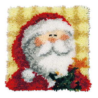Nikolaus-Kissen Knüpfideen zur Weihnachtszeit.