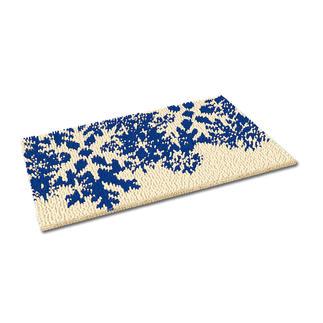 Fußmatte - Schneeflocken, blau Weihnachtliche Fußmatte.