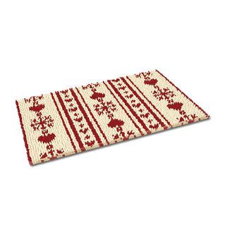 Fußmatte - Christkindl, weiß Weihnachtliche Fußmatte.