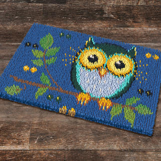 Fußmatte - Zaubereulen, Blau
