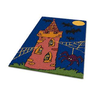 Teppich - Gespensterschloss Erstes Knüpfen für die ganz Kleinen.