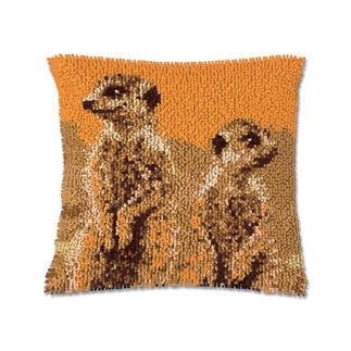 Knüpfkissen - Erdmännchen