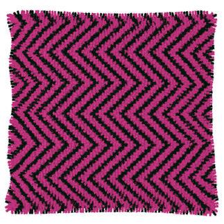 Knüpfkissen - Pink-Thyme, Zacken, B-Ware Kuschelweiche Kissen mit Variationsmöglichkeiten