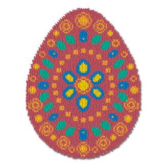 Kleiner Formteppich - Osterei