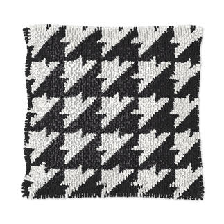 Knüpfkissen - Black & White No. 4