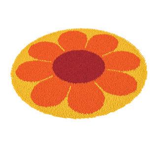 Rundteppiche - Flowerpower