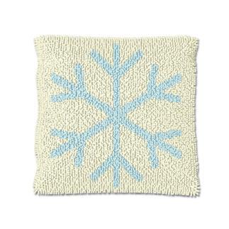 Knüpfkissen - Eiskristall 2 Let it snow