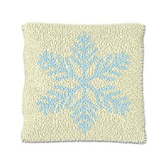 Knüpfkissen - Eiskristall 1 Let it snow