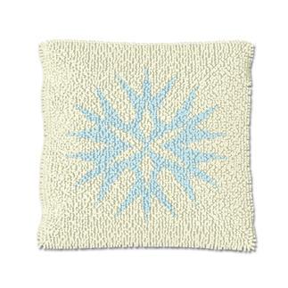 Knüpfkissen - Eiskristall 3 Let it snow