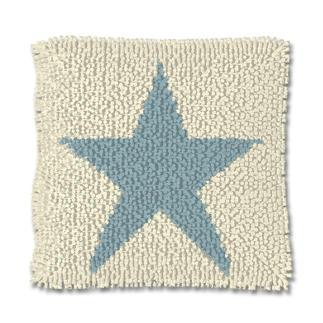 Knüpfkissen - Blue Star Stars and Stripes