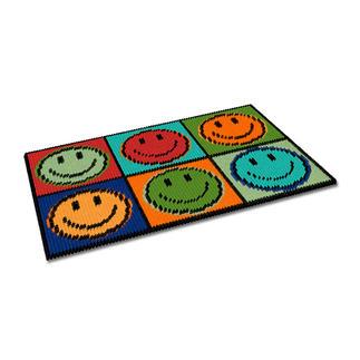 Kreuzstich-Fußmatte - Don`t worry Gestickte Fußmatten - besonders strapazierfähig