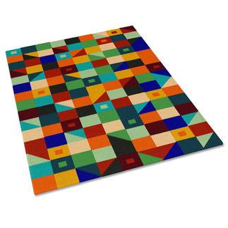 Kreuzstickteppich - Quadro, 89 x 140 cm Stickteppiche - die robusten Prachtstücke