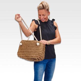Shopping Bag – schnell gehäkelt aus dicker Dochtgarnwolle