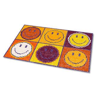 Kreuzstich-Fußmatte - Don`t worry, Gold Gestickte Fußmatten - besonders strapazierfähig