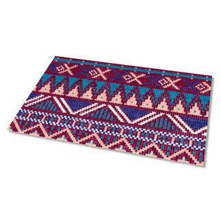 Kreuzstich-Fußmatte - Falun, Burgund Gestickte Fußmatten - besonders strapazierfähig