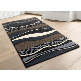 Longstichteppich - Batida, Grau Stickteppiche - die robusten Prachtstücke