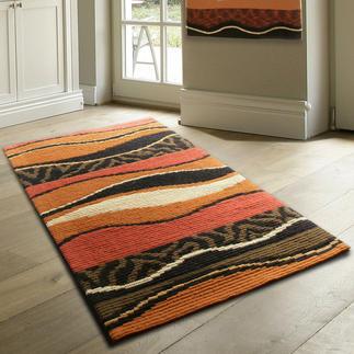 Longstichteppich - Batida, Braun Stickteppiche - die robusten Prachtstücke