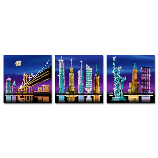 3 Paillettenbilder im Set - New York