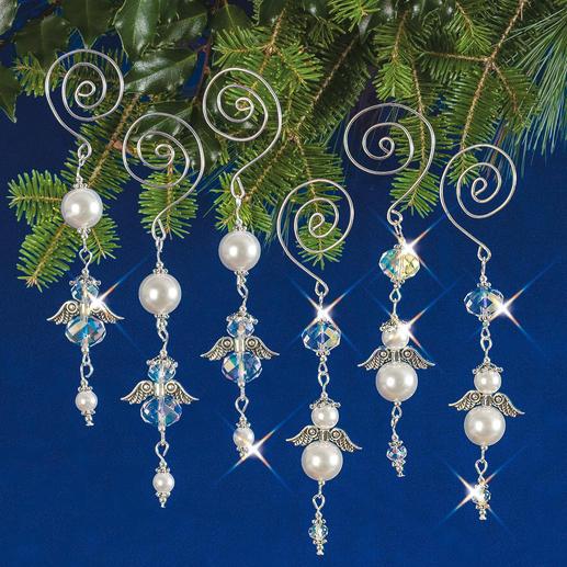 6 Baumelnde Engel im Set, 11 cm