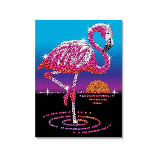 Paillettenbild für Kinder - Flamingo
