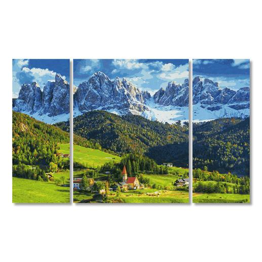 Malen nach Zahlen - Triptychon St. Magdalena in Südtirol