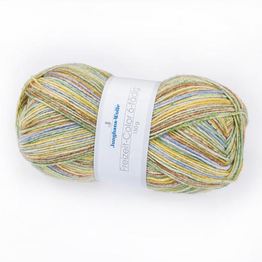 Freizeit-Color, 6-fädig von Junghans-Wolle Die dickere Variante des bewährten Junghans-Sockengarnes.