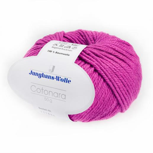 Cotonara von Junghans-Wolle Genial griffiges Basic-Garn aus amerikanischer Baumwolle.