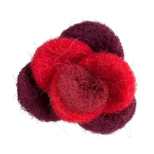 Jim Knopf Filz-Rose, Rot