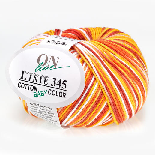 Linie 345 Cotton Baby Color von ONline, Gelb/Orange/Rot/Weiß Linie 345 Cotton Baby Color von ONline