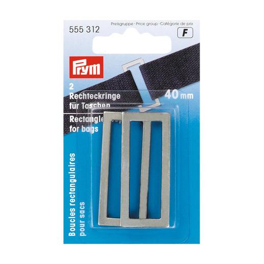 2 Rechteckringe für Taschen, 40 mm