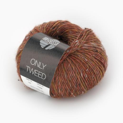 Only Tweed von Lana Grossa, Rotbraun/Oliv/Natur/Anthrazit
