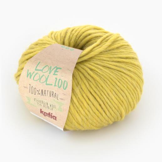Love Wool 100 von Katia, Gelb