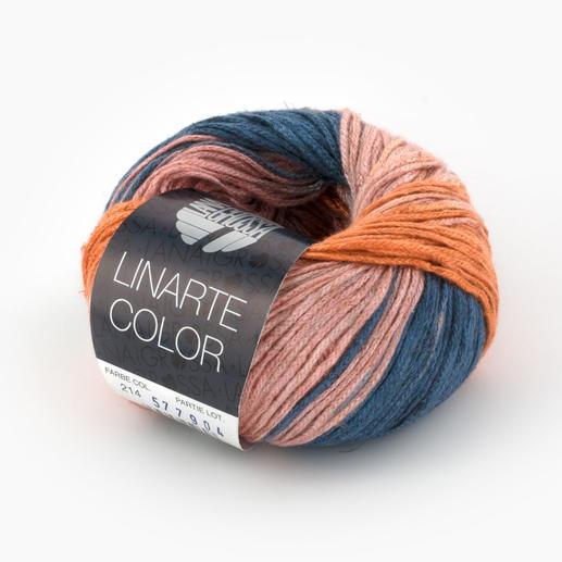 Linarte Color von Lana Grossa, 214 Rosa/Pastellorange/Graublau Linarte Color von Lana Grossa