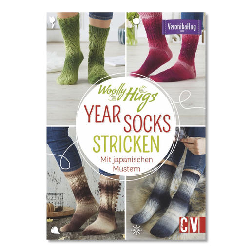 Buch - Woolly Hugs Year Socks stricken