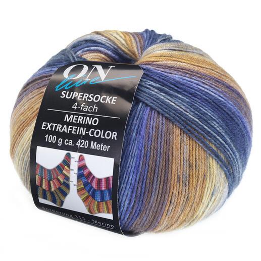 Supersocke 4-fach Merino Extrafein – Color  Sort. 313  von ONline