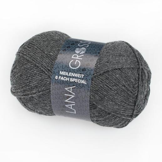 Sockenwolle Meilenweit 6fach Special Uni von Lana Grossa