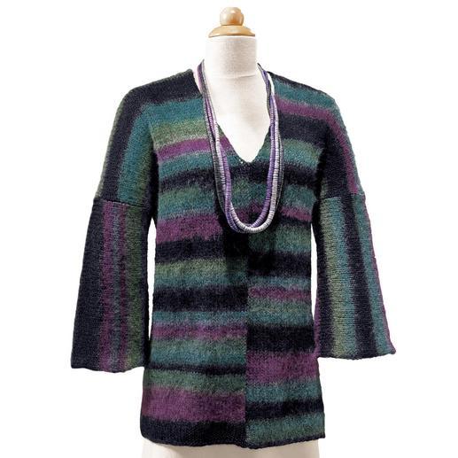 Anleitung 151/6, V-Ausschnitt-Pullover aus Scala von Junghans-Wolle