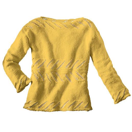 Anleitung 241/1, Im Querweg gestrickter Damenpullover aus Bandana von Junghans-Wolle