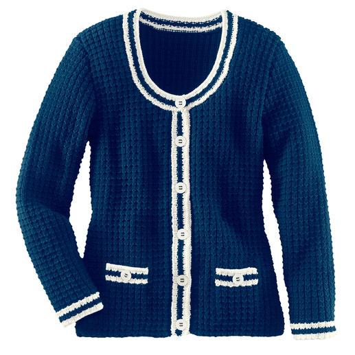 Anleitung 415/2, Damenjacke aus Merino-Cotton von Junghans-Wolle