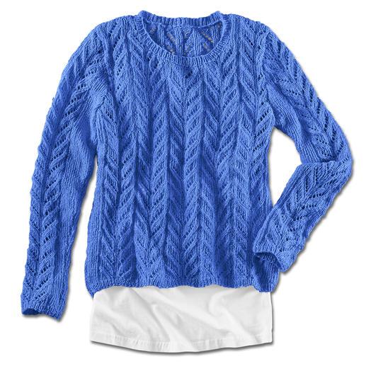 Anleitung 427/4, Damenpullover aus Contrato von Junghans-Wolle