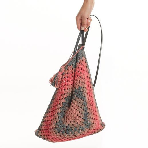 Anleitung 251/7, Häkeltasche, ca. 32x36cm aus Pinta von Junghans-Wolle