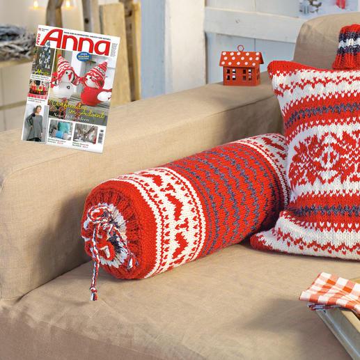 anleitung 826 4 nackenrolle aus landwolle von junghans wolle 3 versch farben. Black Bedroom Furniture Sets. Home Design Ideas